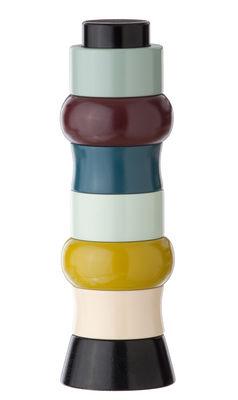 rond de serviette tower of rings lot de 6 avec support multicolore ferm living. Black Bedroom Furniture Sets. Home Design Ideas