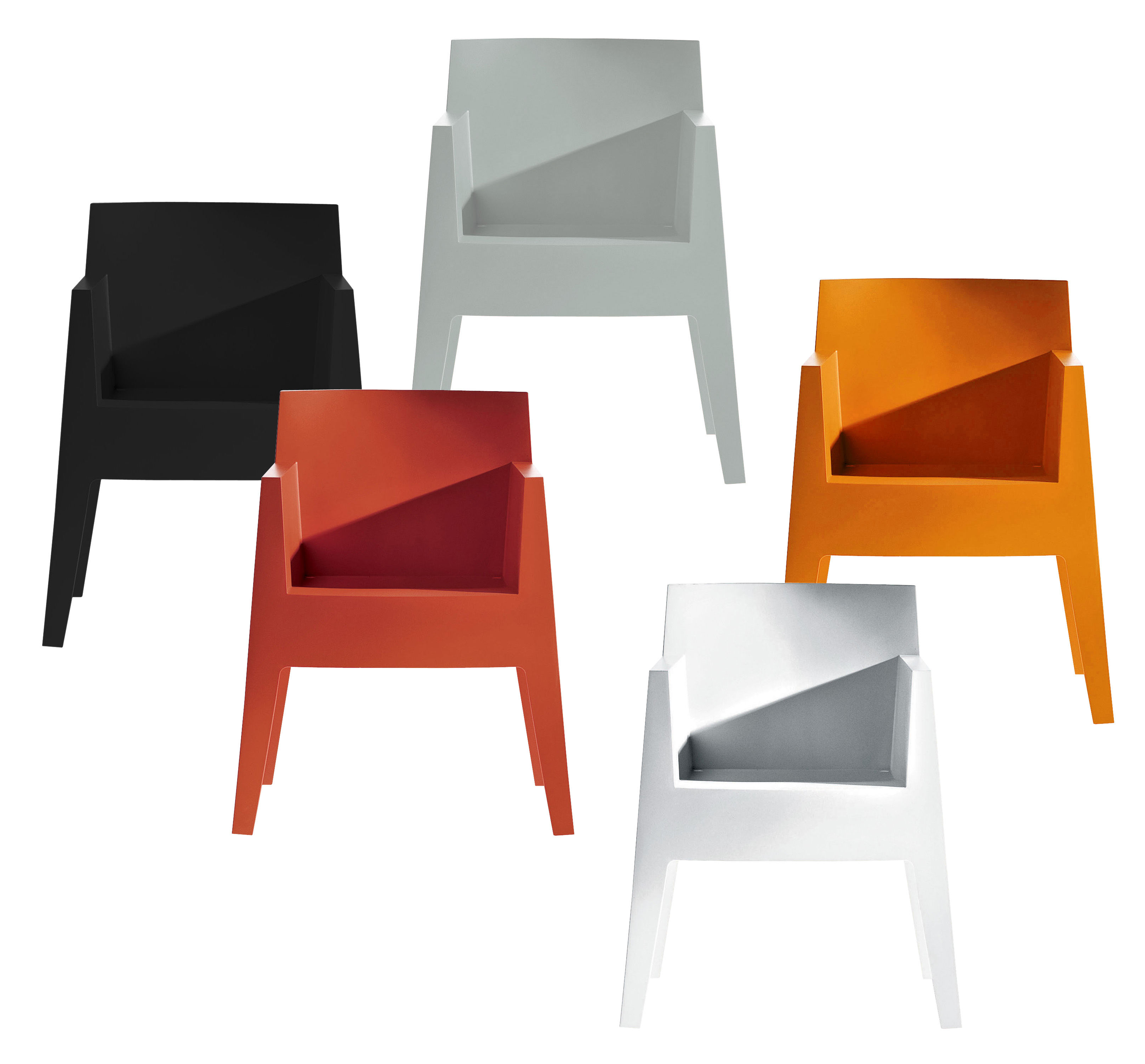 fauteuil empilable toy blanc driade. Black Bedroom Furniture Sets. Home Design Ideas