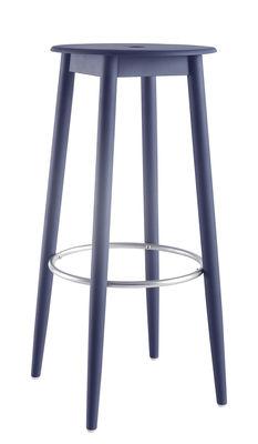 Foto Sgabello da bar Oto / H 65 cm - Legno - Ondarreta - Blu - Legno Sgabello bar