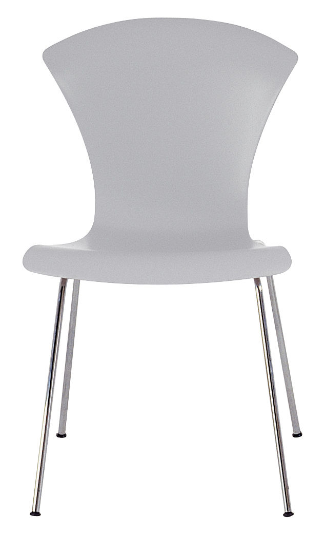nihau stackable chair plastic seat metal legs blue