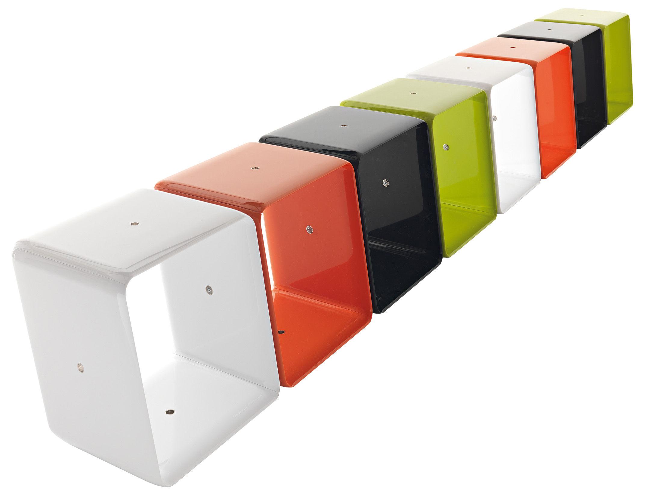 Etag re obo cube modulaire orange cerruti baleri - Bloc etagere modulable ...