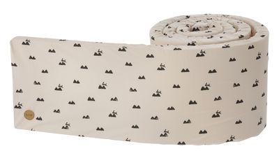 Foto Giroletto Rabbit / L 340 cm - Ferm Living - Nero,Rosa pallido - Tessuto Paracolpi