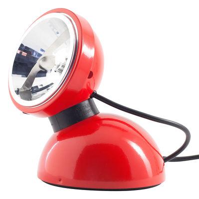 Foto Lampada da tavolo Touch 360° - Comando tattile di Azimut Industries - Rosso - Metallo
