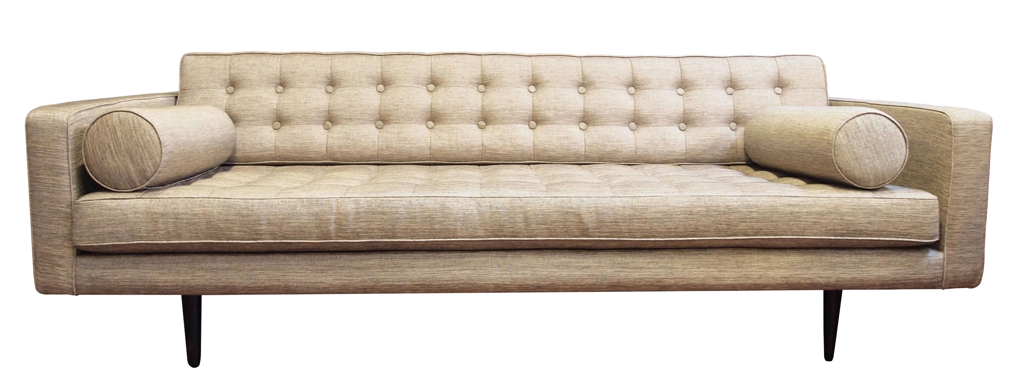canap droit 3 places l 215 cm beige argent made in design editions. Black Bedroom Furniture Sets. Home Design Ideas