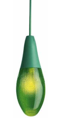 Foto Sospensione Pod lens di Luceplan - Verde - Materiale plastico