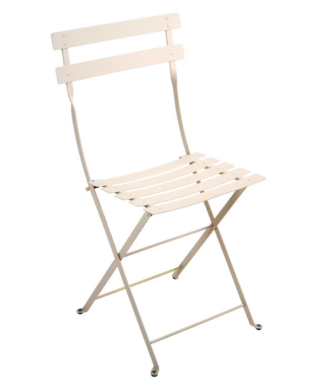 bistro foldable chair metal linen by fermob