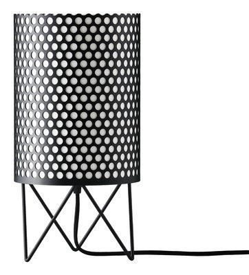 Foto Lampada da tavolo Pedrera ABC Ø 18 x H 35 cm - Gubi - Pedrera - Nero - Metallo