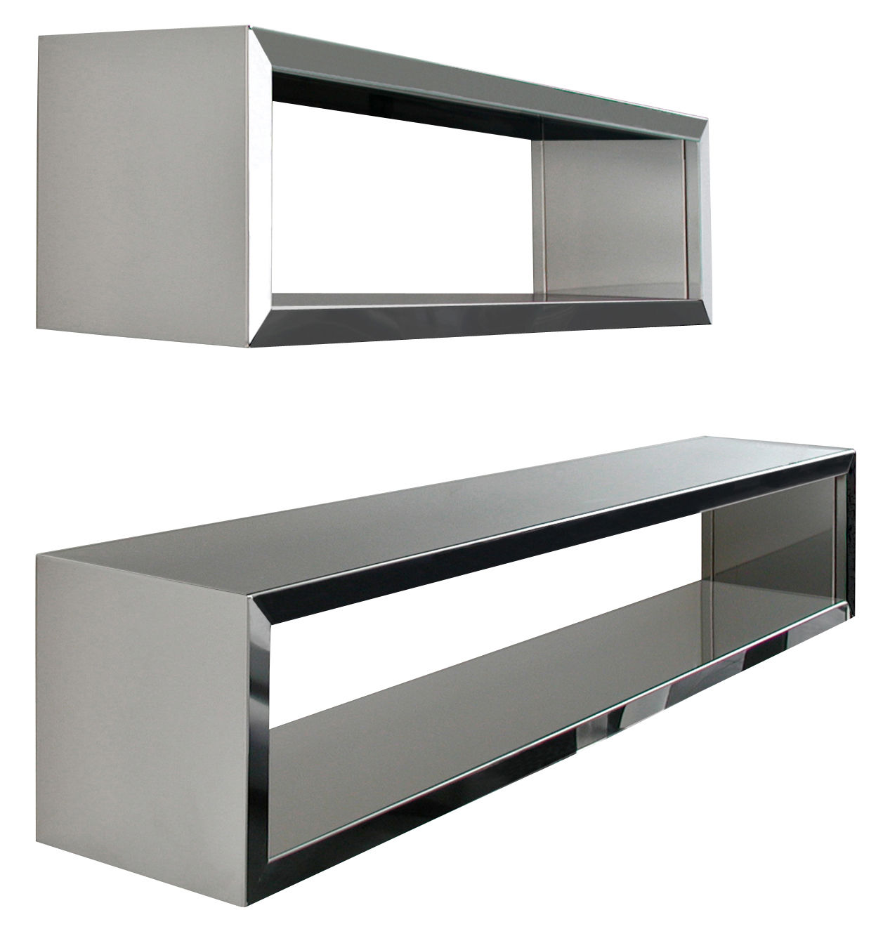 etag re inox wall rack finition miroir l 100 cm zeus. Black Bedroom Furniture Sets. Home Design Ideas