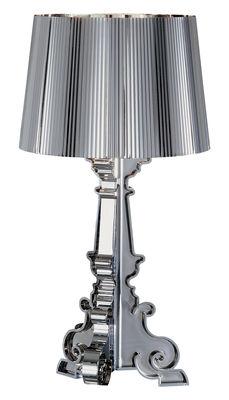 Foto Lampada da tavolo Bourgie Chrome di Kartell - Cromato - Materiale plastico