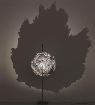 Foto Lampada da tavolo Ametista - LED - H 65 cm di Catellani & Smith - Grigio argentato - Metallo