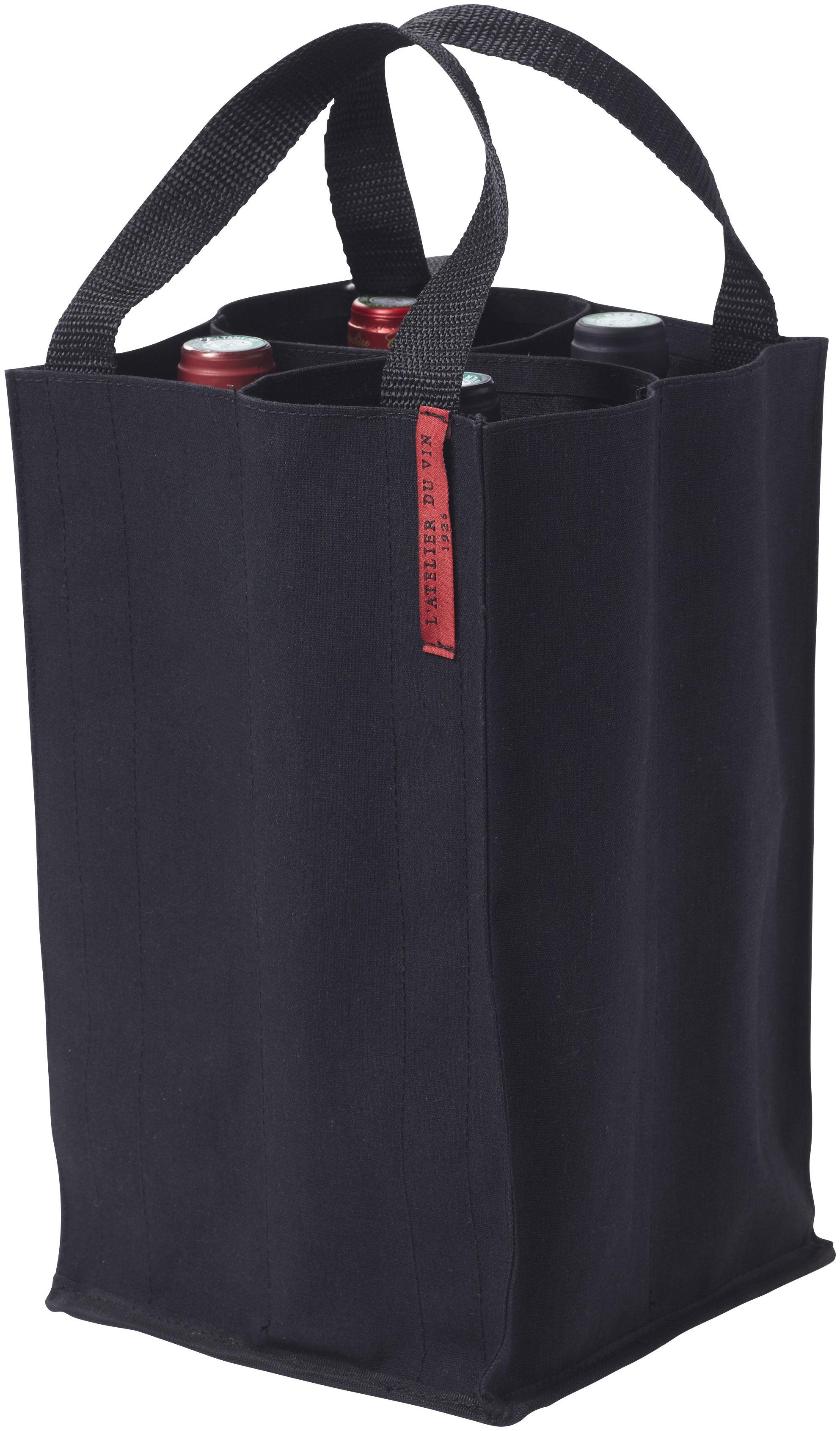sac soft baladeur pour 4 bouteilles l 39 atelier du vin noir. Black Bedroom Furniture Sets. Home Design Ideas
