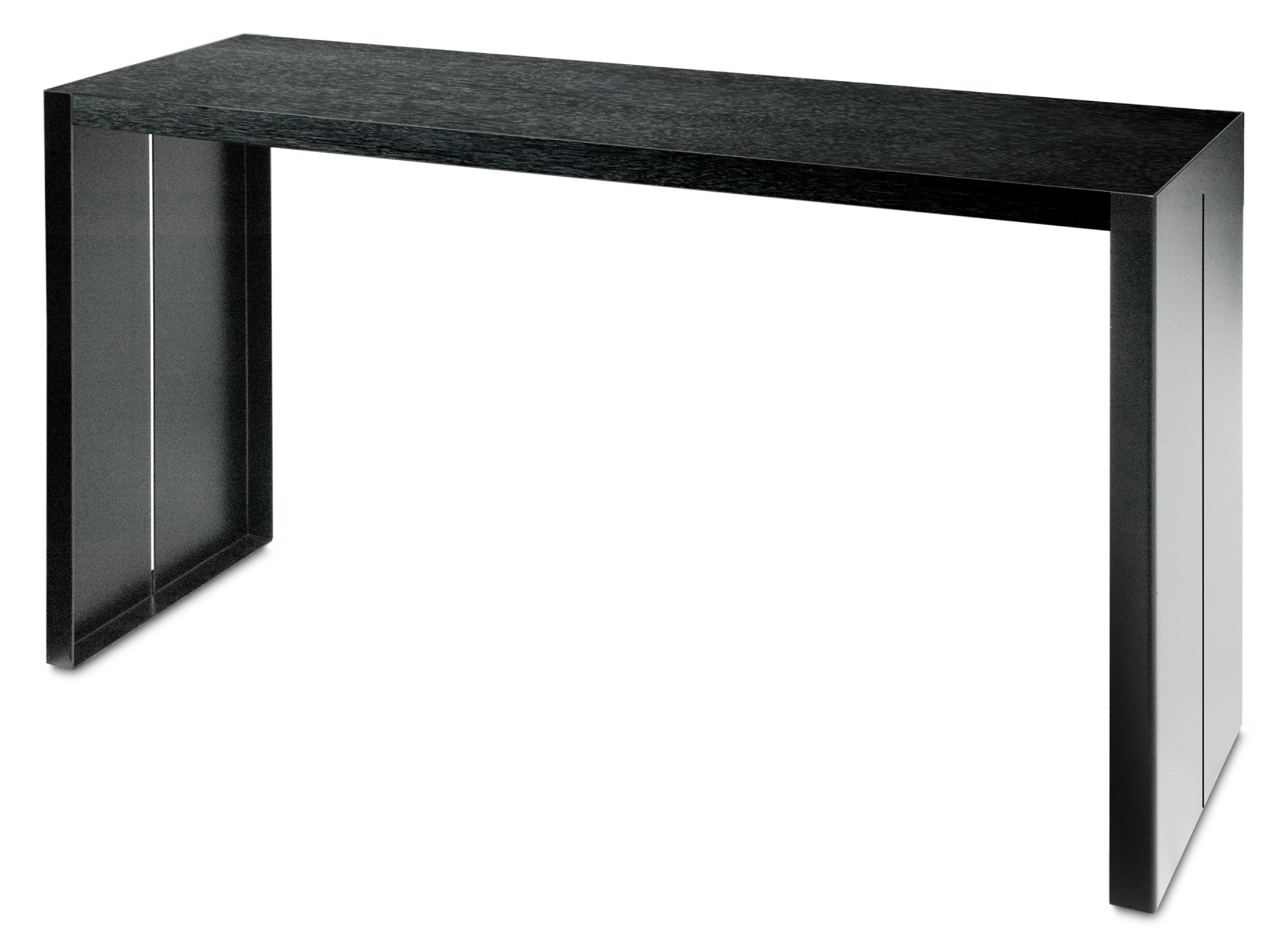 Scopri tavolo alto panco h 110 cm nero l 180 cm di la for Tavoli alti design