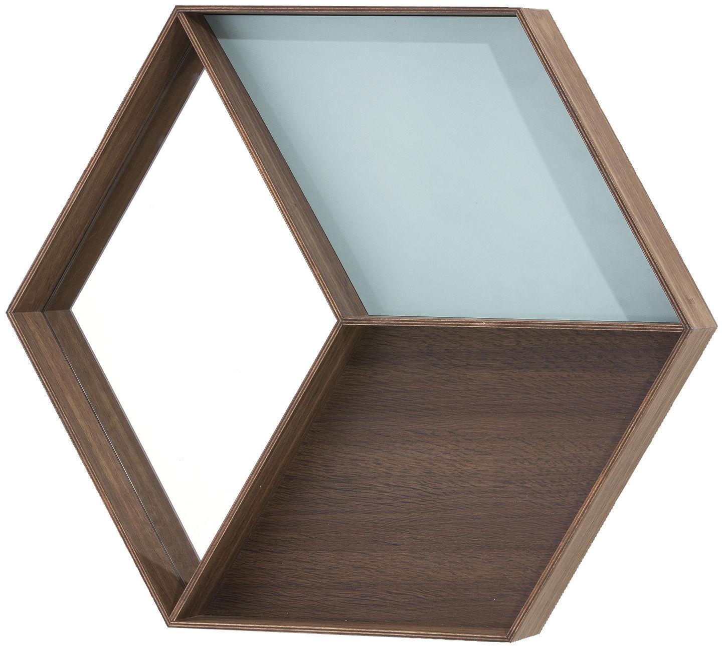 Miroir wall wonder etag re 60 x 50 cm bleu bois for Prix miroir 50 x 60