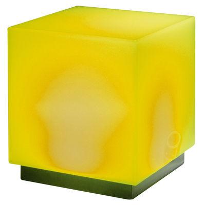 Foto Sgabello luminoso Light Cube Mono di Viteo - Giallo - Materiale plastico