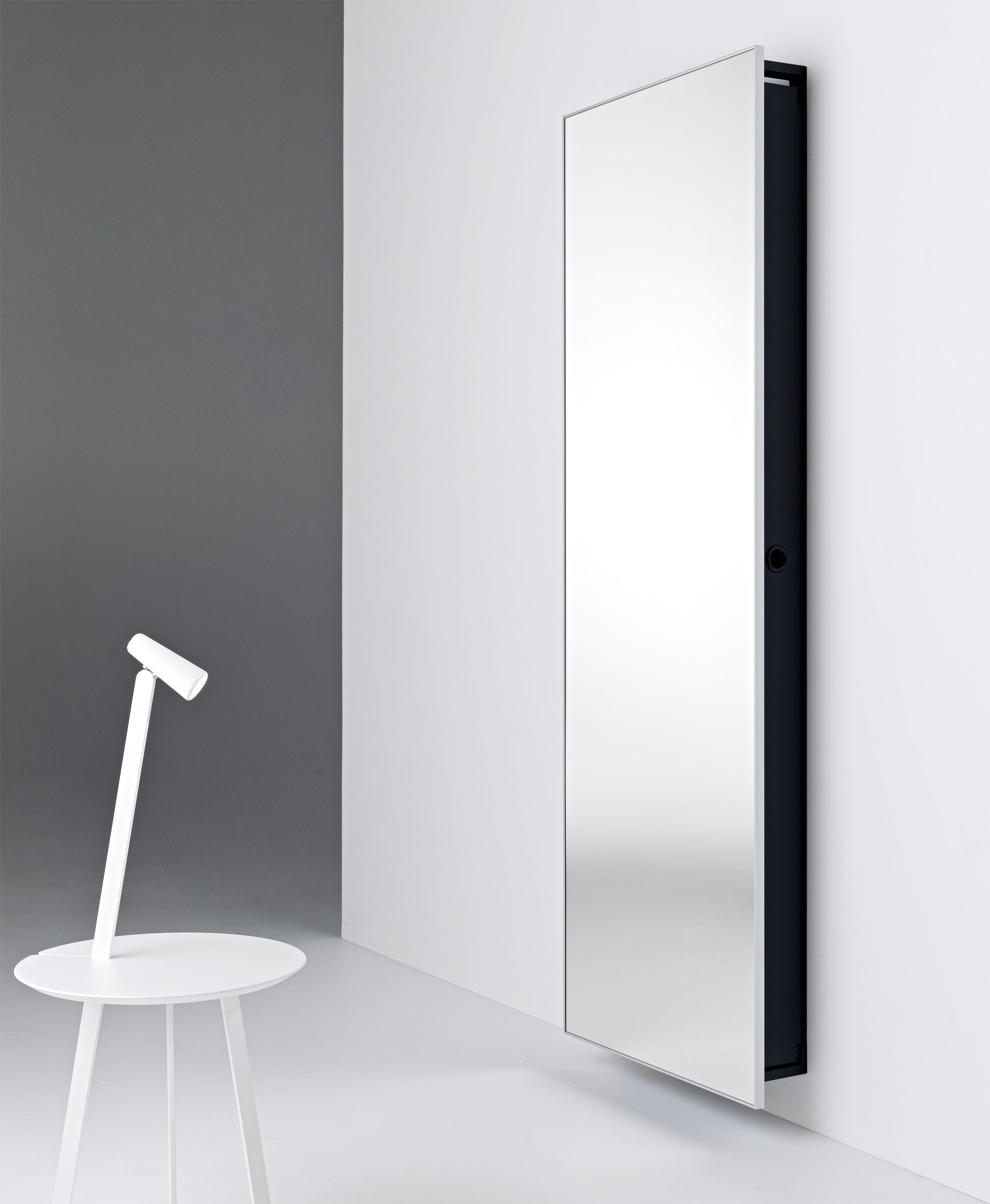 Armoire backstage miroir 64 x h 192 cm l 64 x h 192 cm for Miroir cadre noir