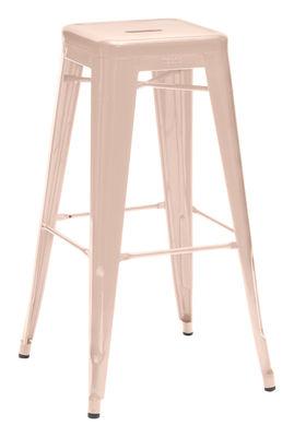 Foto Sgabello bar H - / H 75 cm - Colore opaco - Les Couleurs® Le Corbusier di Tolix - Rosa chiaro - Metallo