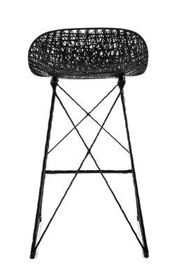 tabouret haut carbon outdoor h 66 cm fibre de carbone noir moooi. Black Bedroom Furniture Sets. Home Design Ideas