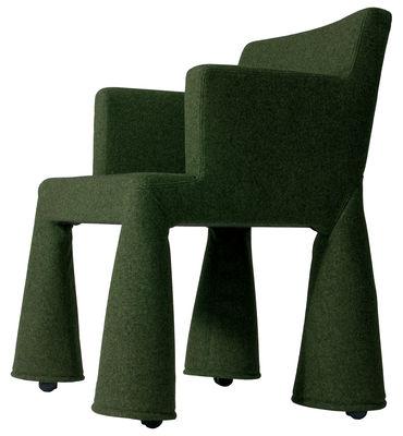 Moooi V.I.P. Chair Desk chair. Bottle green