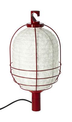Foto Lampada In & Out - Small - Lampada portatile Ø 25 cm di Forestier - Rosso - Metallo