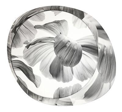 Image of Applique Wagashi Grande / Plafonnier - Fleurs noires - Foscarini Noir / Fleurs