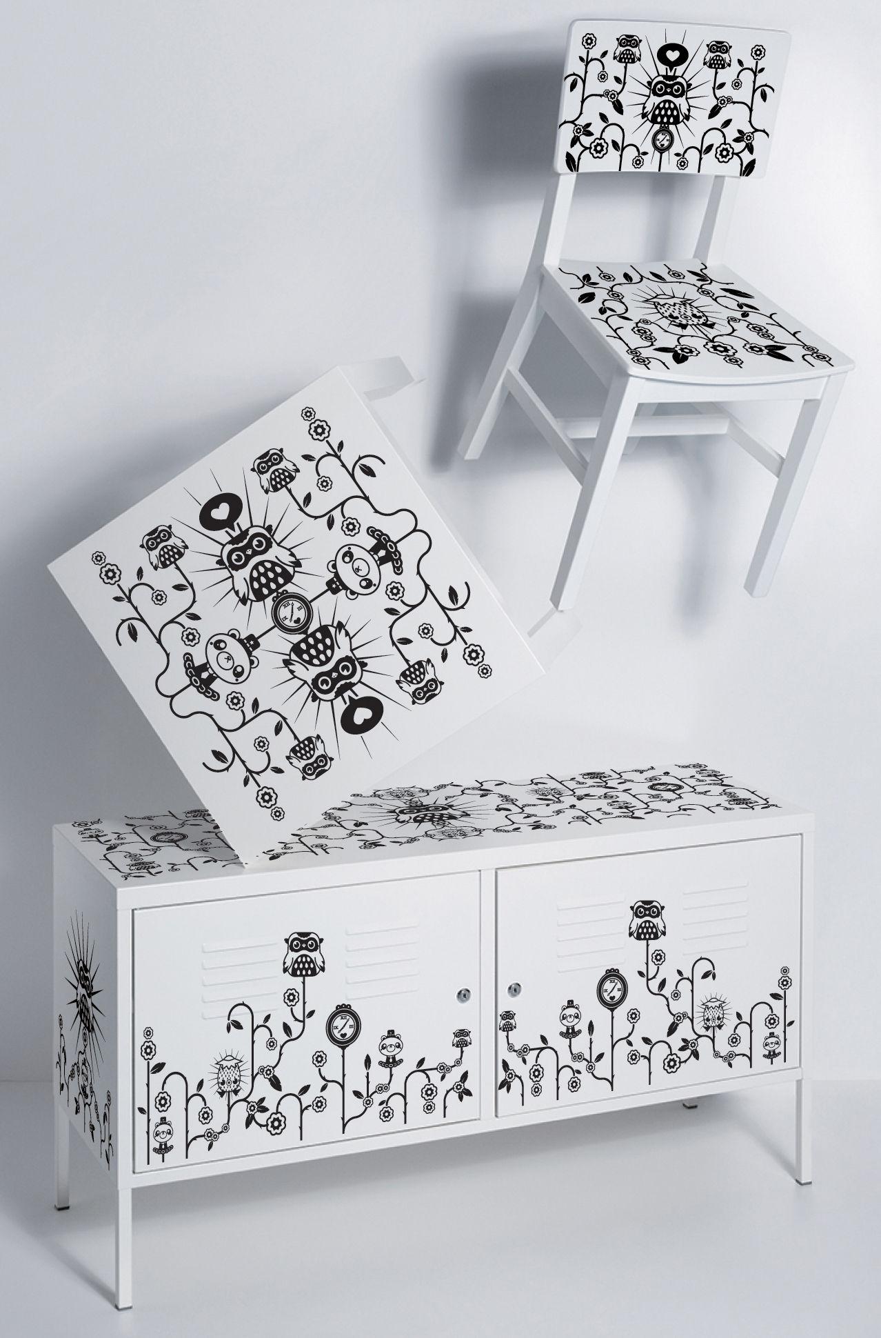 Scopri sticker da mobili par tado per sedia di domestic - Stickers per mobili ...