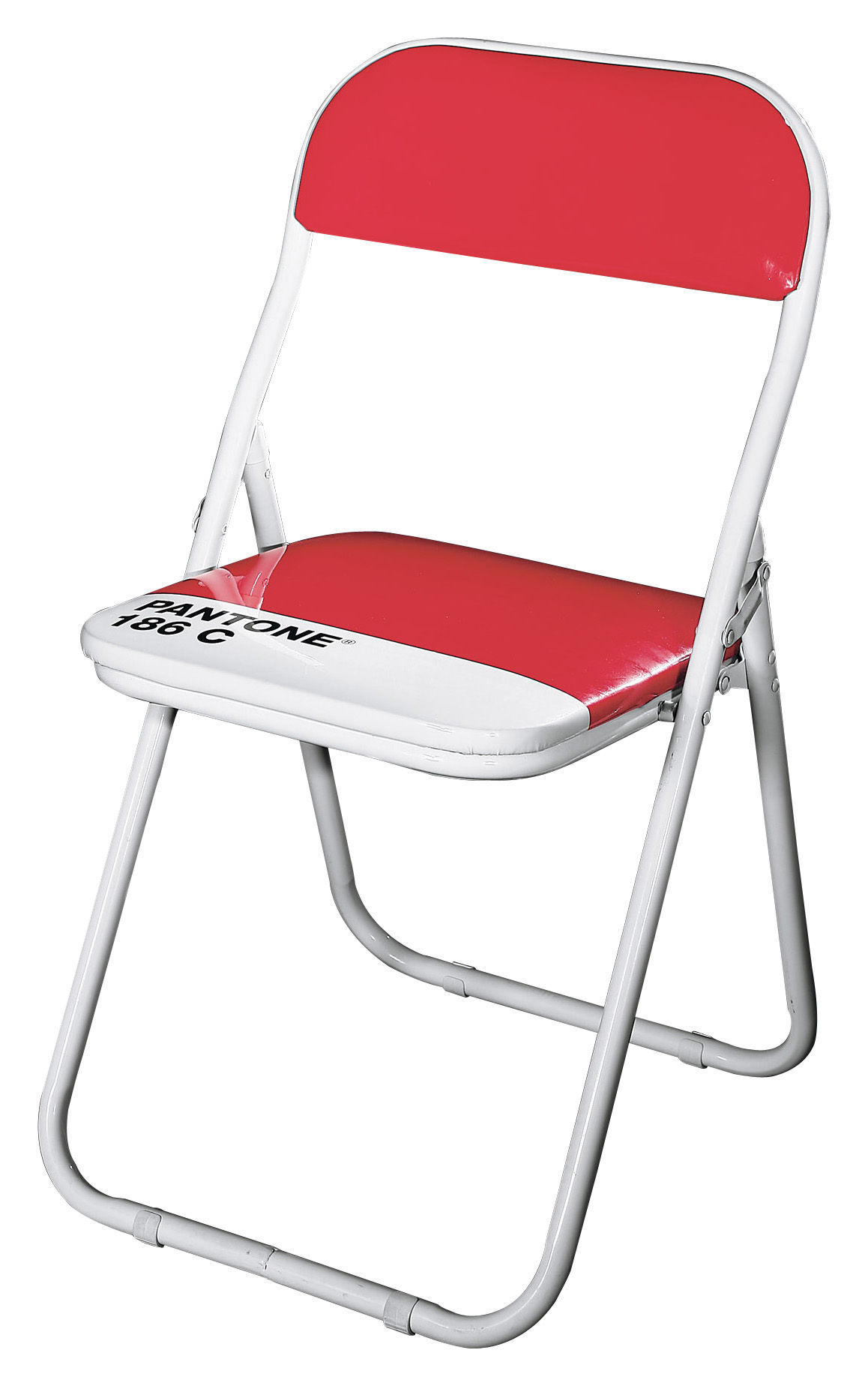pantone foldable chair plastic metal structure 186c ruby red by seletti. Black Bedroom Furniture Sets. Home Design Ideas