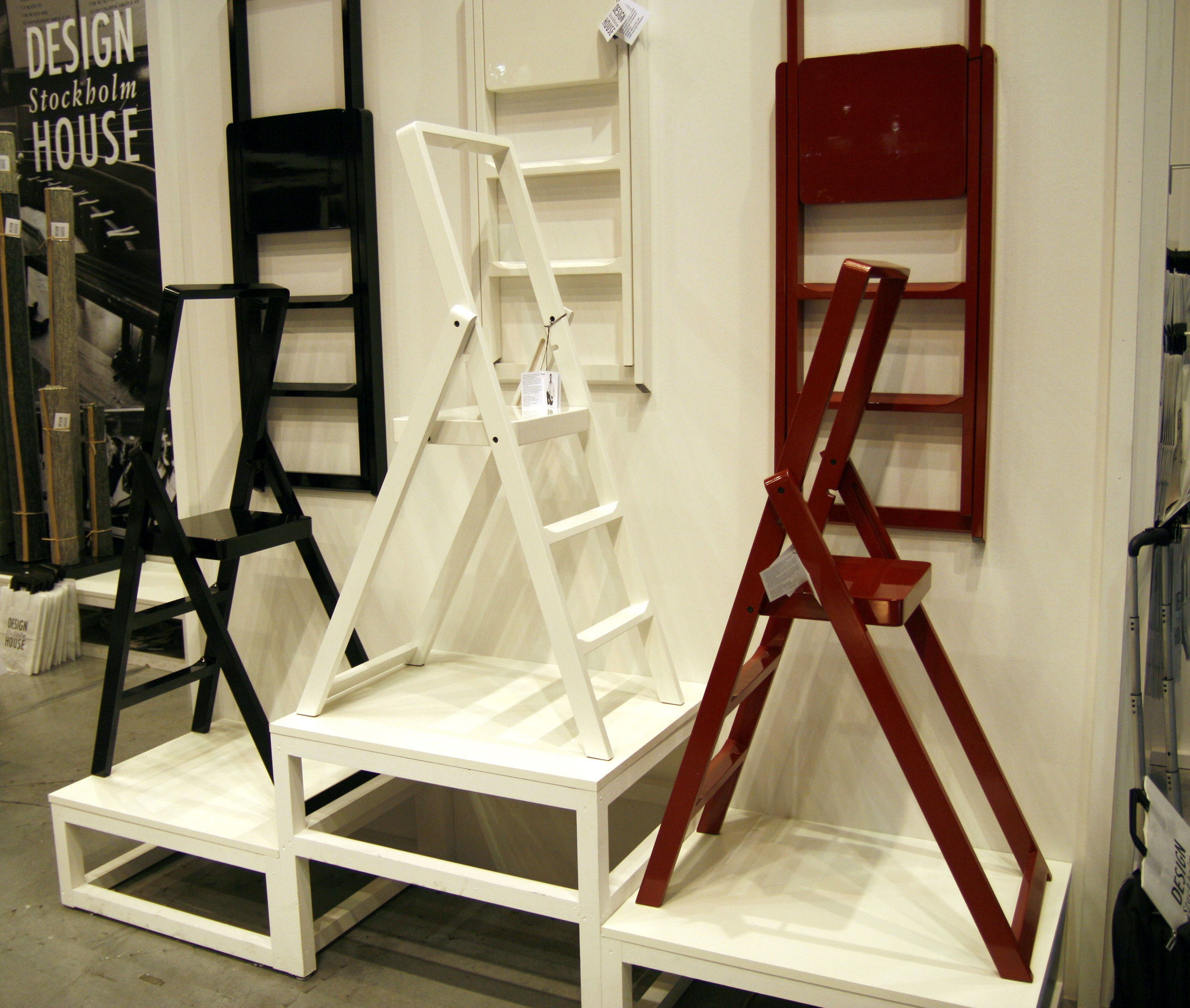 escabeau step pliable blanc design house stockholm. Black Bedroom Furniture Sets. Home Design Ideas