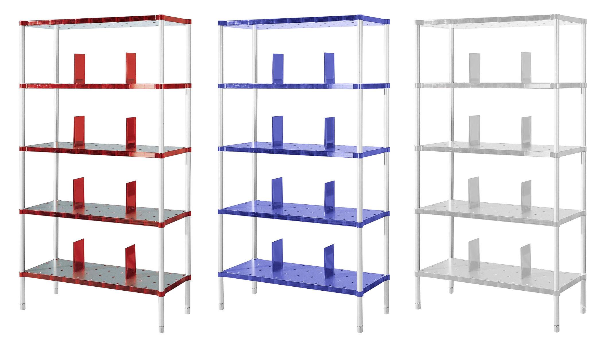 biblioth que partner 5 tag res rouge rubis kartell. Black Bedroom Furniture Sets. Home Design Ideas