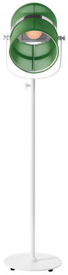 Luminaire - Lampadaires - Lampadaire solaire La Lampe Paris LED / Sans fil - Maiori - Jade / Pied blanc - Aluminium peint, Tissu