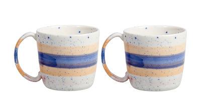 Tasse Brush / Set de 2 - Porcelaine - & klevering multicolore en céramique