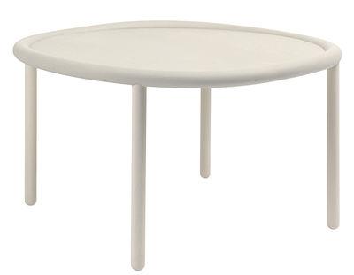 Tavolino Serve - / Ø 72 cm di Hay - Bianco - Legno
