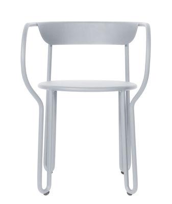 Poltrona Huggy - / Alluminio di Maiori - Grigio gelido - Metallo