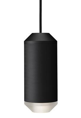 Luminaire - Suspensions - Suspension Backbeat / Résille de métal - Ø 10 x H 23,5 cm - Rewired - Noir / Diffuseur blanc - Aluminium, PMMA
