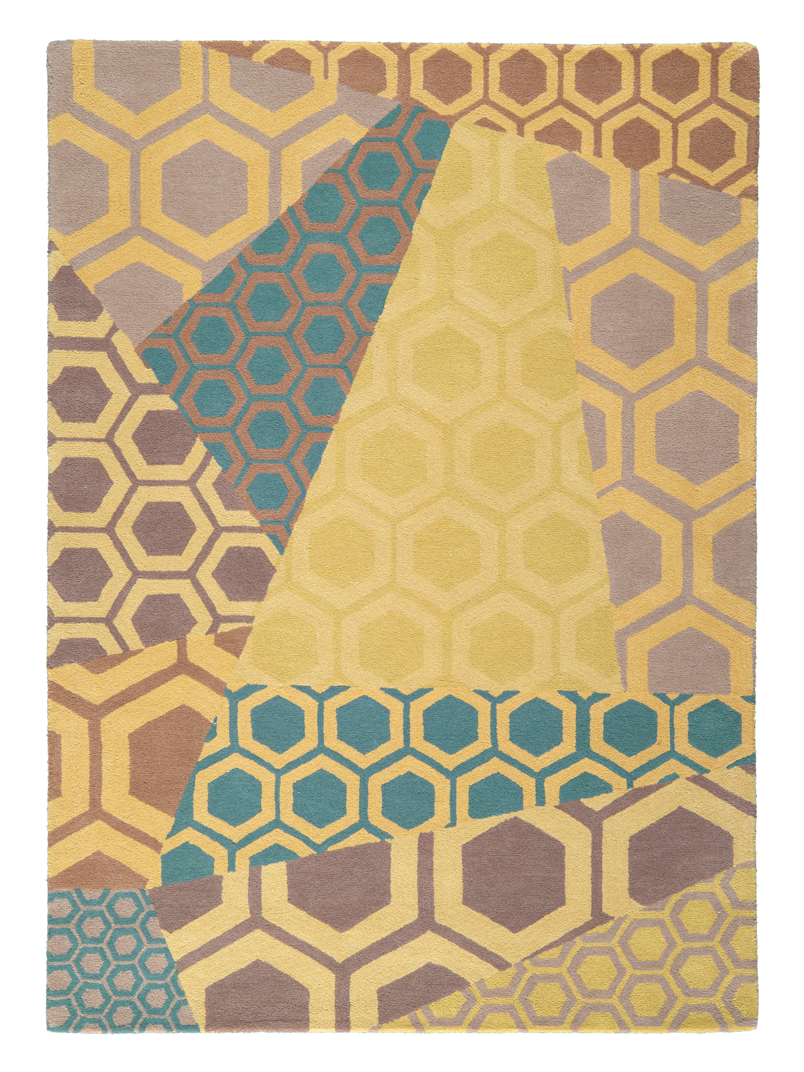Tapis inca 170 x 240 cm tuft main jaune multicolore - Made in design tapis ...