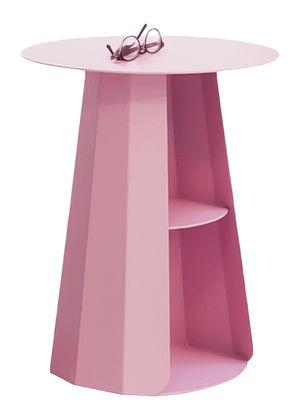 Tavolino d'appoggio Ankara - / Ø 39 x H 50 cm di Matière Grise - Rosa chiaro - Metallo
