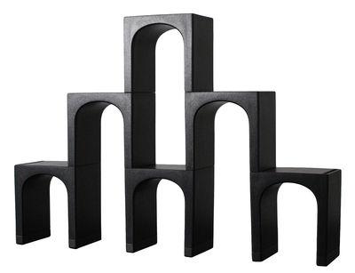 Mobilier - Etagères & bibliothèques - Etagère EUR modulable / Exclusivité - L 200 x H 135 cm - Magis Collection Me Too - Noir / L 200 x H 135  cm - Polypropylène expansé