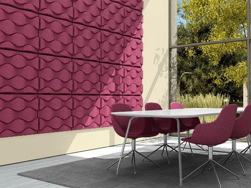 panneau acoustique mural soundwave flo gris anthracite offecct. Black Bedroom Furniture Sets. Home Design Ideas