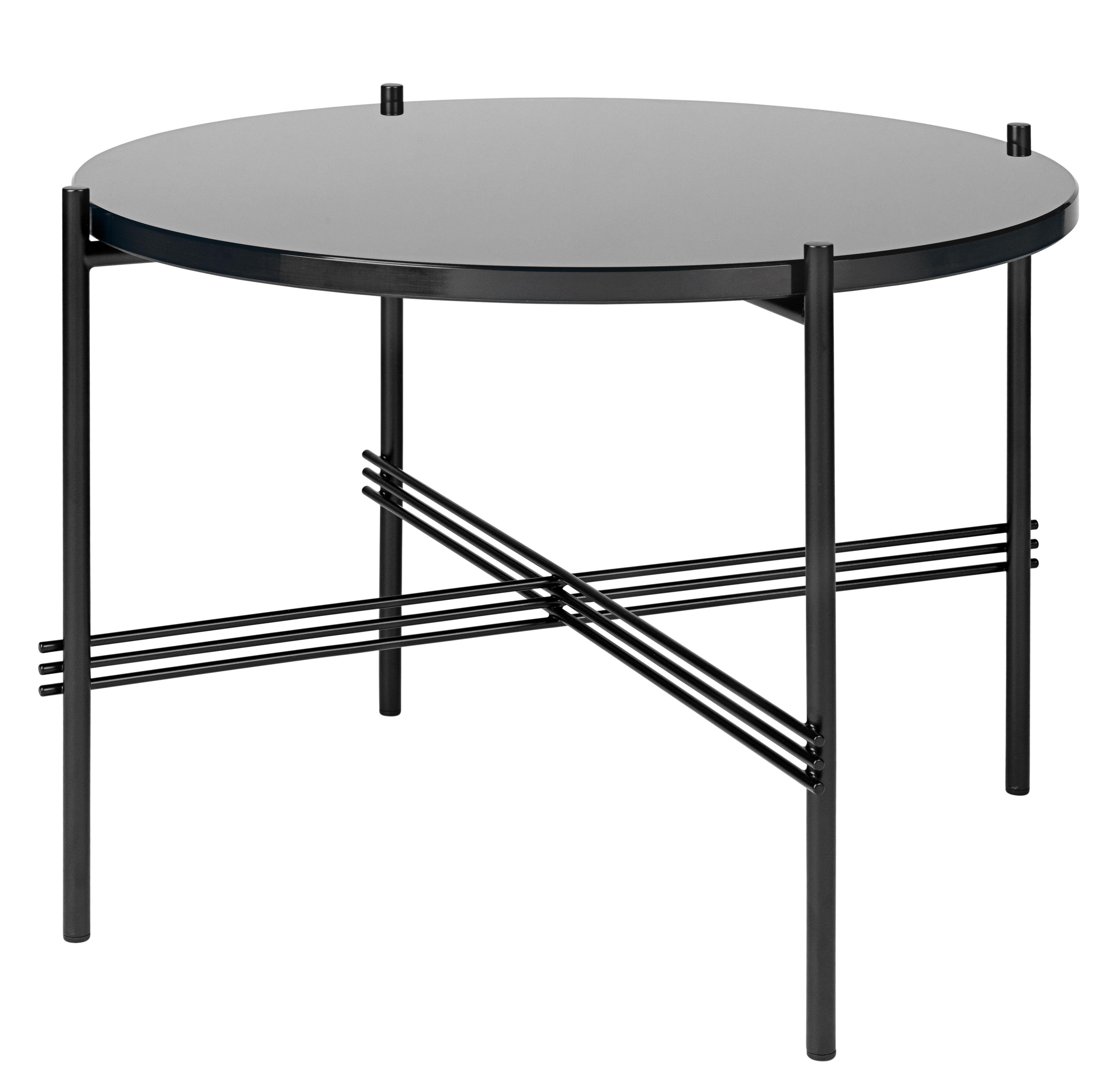 table basse ts gamfratesi 55 cm x h 41 cm verre verre noir pied noir gubi. Black Bedroom Furniture Sets. Home Design Ideas