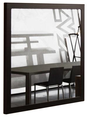Mobilier - Miroirs - Miroir mural Little Frame / 90 x 90 cm - Zeus - Phosphaté noir - Tôle d'acier naturelle