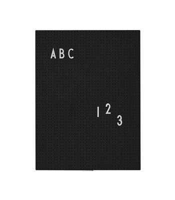 Tableau memo A4 / L 21 x H 30 cm - Design Letters noir en matière plastique