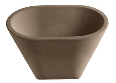 Applique Aplomb LED / Ciment - L 30 x H 24 cm - Foscarini marron en pierre
