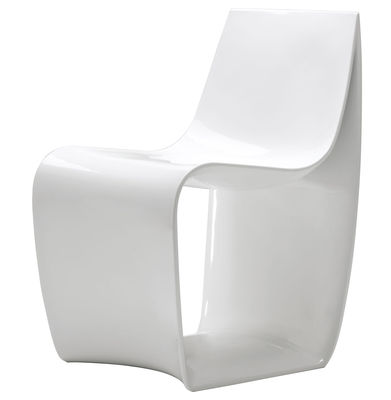 Furniture - Chairs - Sign Armchair - Lacquered polyamide by MDF Italia - White lacquered - Lacquered polyamide