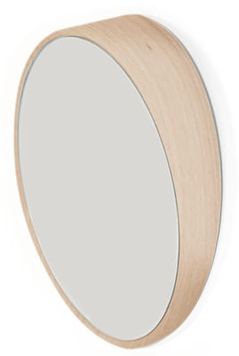 Miroir Odilon Medium / Ø 40 cm - à poser ou suspendre - Hartô chêne en verre