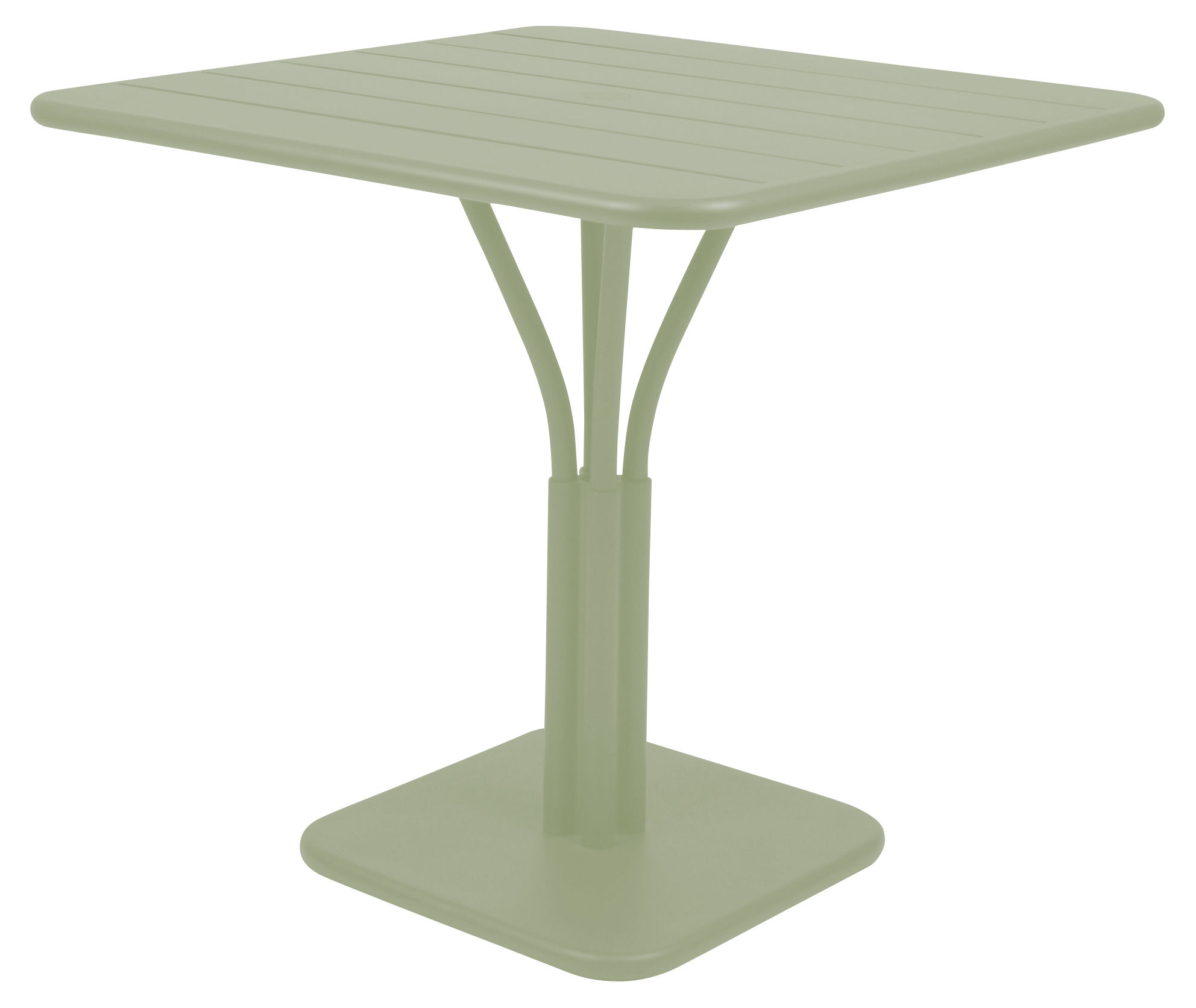 Luxembourg garden table 80 x 80 cm willow green by fermob for Table luxembourg fermob