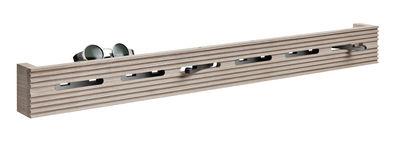 Foto Appendiabiti Line-up - / L 60 cm di Nomess - Nero,Legno chiaro - Legno