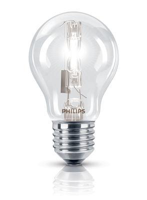 Ampoule Eco-halogène E27 EcoClassic Standard / 70W (92W) - 1200 lumen - Philips transparent en verre