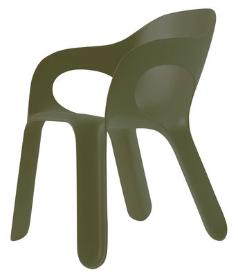 Furniture - Chairs - Easy chair Stackable armchair - Plastic by Magis - Green - Polypropylene