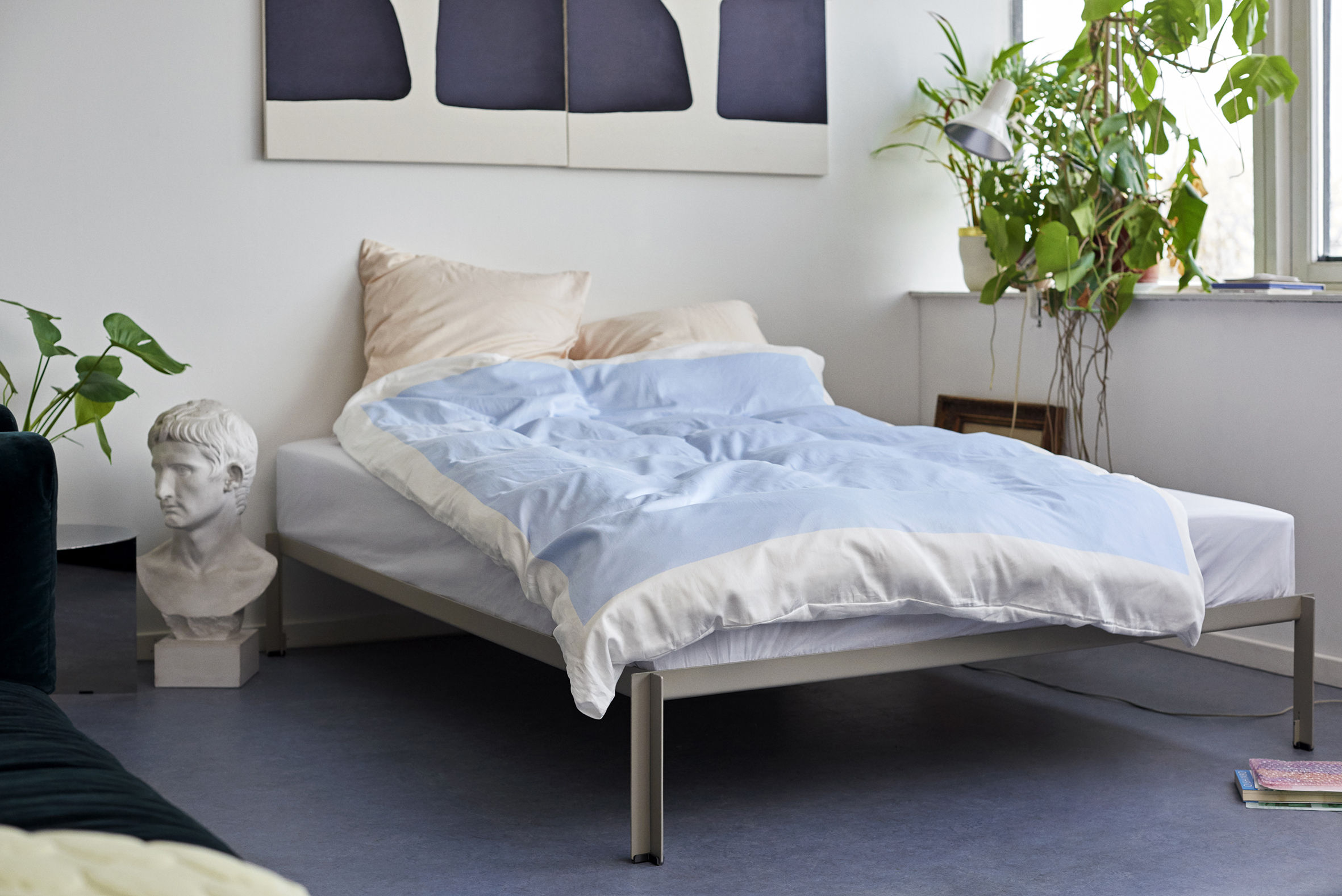 parure de lit 1 personne rest 200 x 140 cm menthe hay. Black Bedroom Furniture Sets. Home Design Ideas