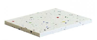 Plateau Confetti Small / Dessous de plat - 13 x 20 cm - OK Design pour Sentou Edition blanc,multicolore en pierre