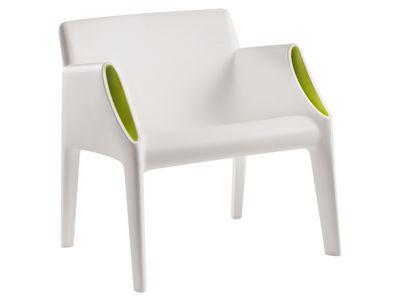 Poltrona Magic Hole - interni/esterni di Kartell - Bianco,Verde - Materiale plastico